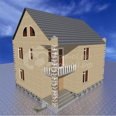Проект небольшого загородного дома b