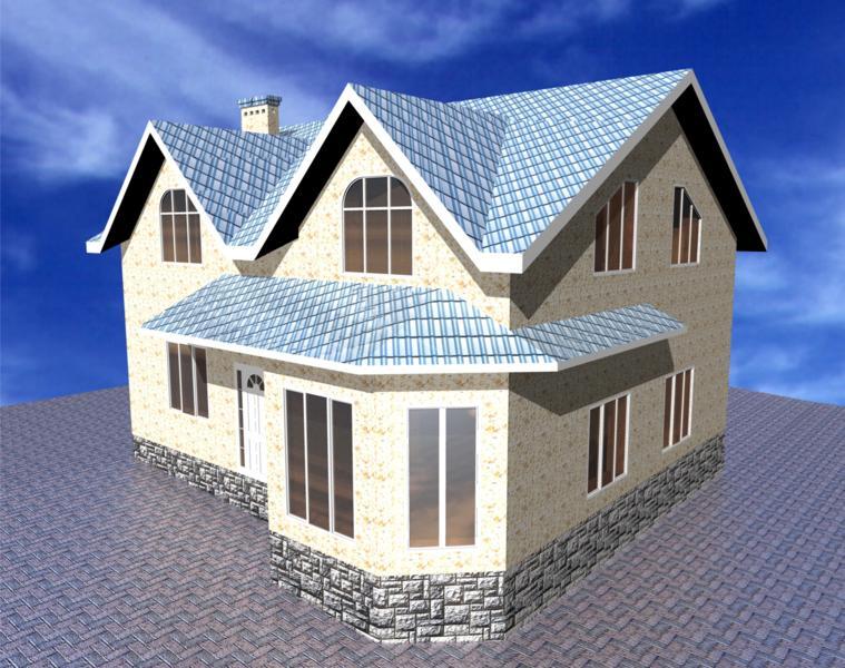 Типовой план проект дома с мансардой