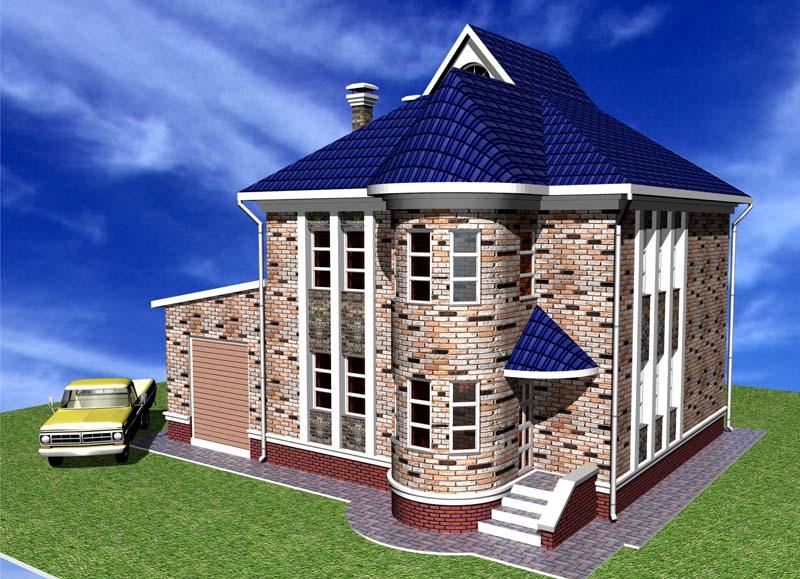Проект одноэтажного дома с мансардой c