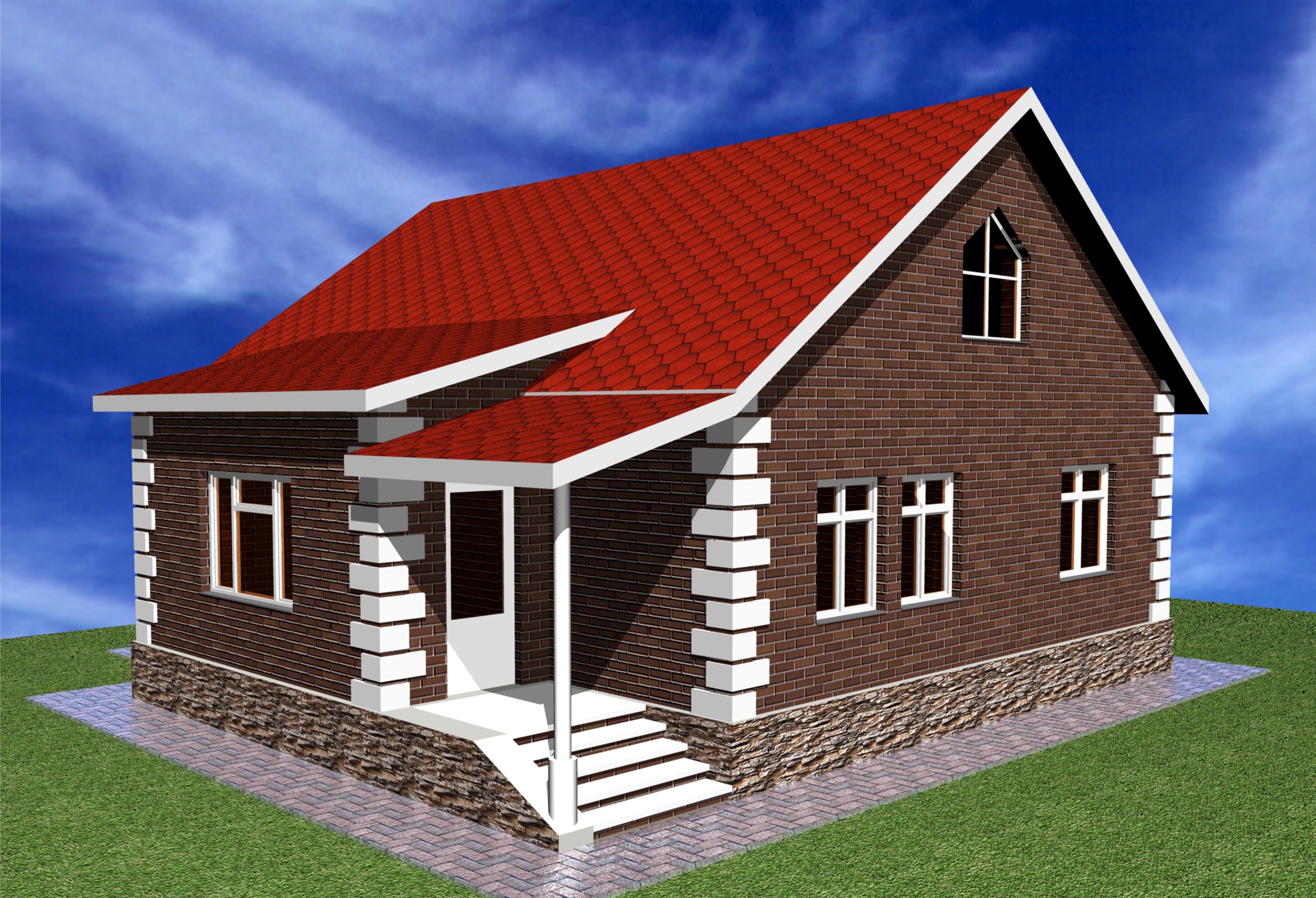 Одноэтажные деревенские дома фото